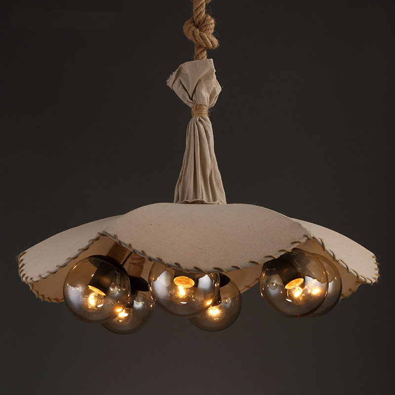 Lighting Shop Near Epping: American Country Retro E27 LED Pendant Lamp Iron Hemp Rope