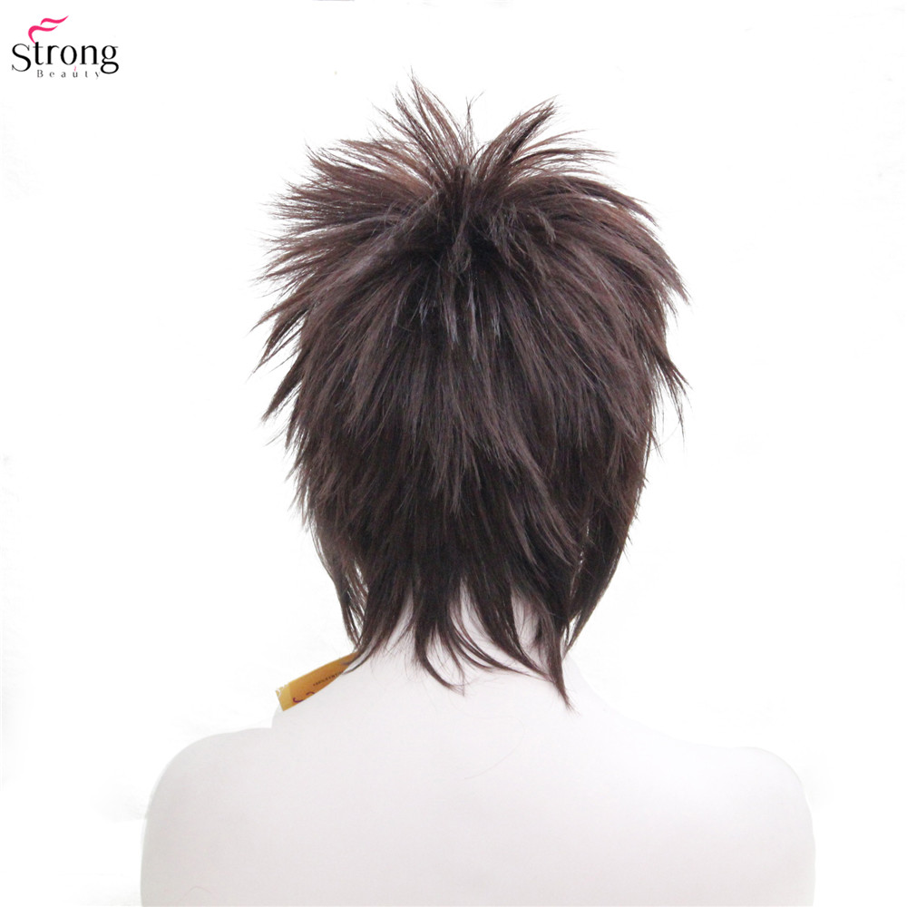 Image 4 - Synthetic Wigs punk Hairstyle Short Straight Hair Black/Red Wig Man StrongBeautySynthetic None-Lace  Wigs   -