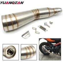 Akcesoria motocyklowe tłumik wydech tłumika motocyklowego ze stali nierdzewnej rury wydechowej dla Kawasaki Ninja 300 250 650 R Z900 Z650