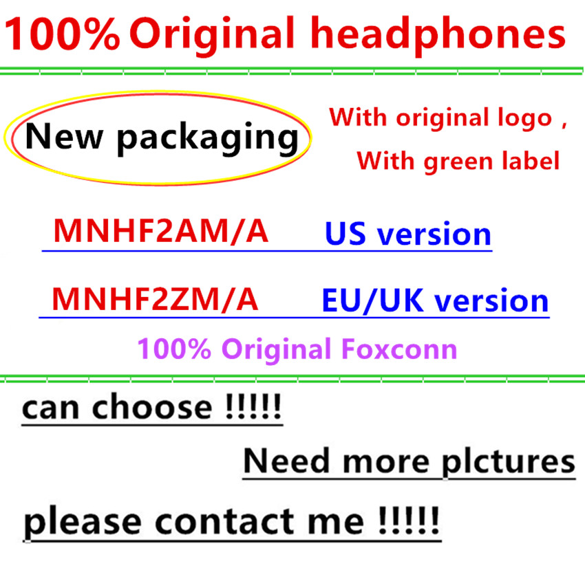 With packaging 100% Original oem Quality headset in ear headphones earphone With Remote Mic for 3.5mm jackPhone Accessory Bundles & Sets   -