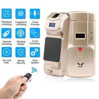 WAFU Wireless Smart Invisible Fingerprint Remote Lock Keyless Entry Door Lock Security Anti theft Locks with Fingerprint Keypad