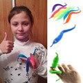 1Pc Kids Funny Toy Magic Trick Twisty Fuzzy Worm kids Cartoon Animals Toys Bile Pussy Mr Fuzzy Dolls