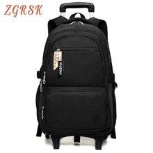 Children Nylon Trolley Backpack Bagpack Boys Wheeled School Backpacks Bag Casual Travel Luggage Waterproof Back Pack Bags недорого