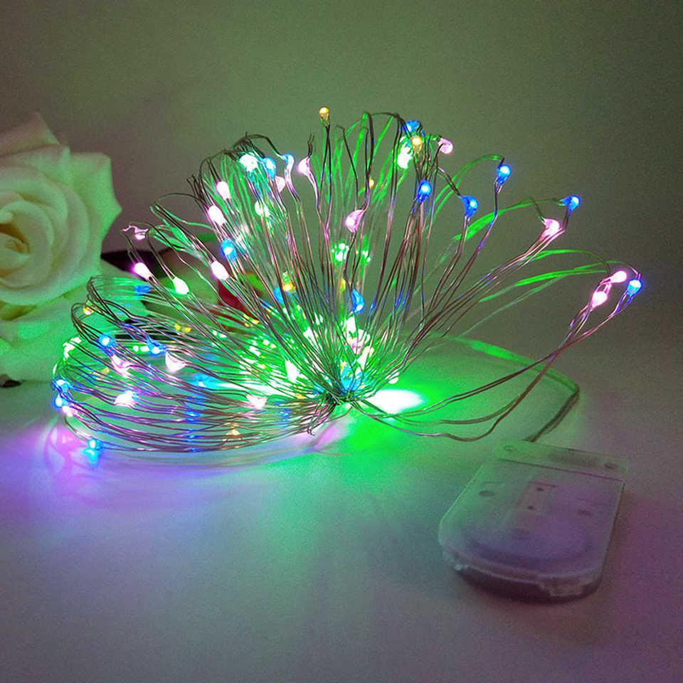5 M 50 LED Dioperasikan LED Kawat Tembaga String Lampu untuk Xmas Garland Pesta Pernikahan Natal Dekorasi Peri Lampu