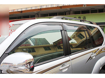 4 pièces fenêtre garde déflecteur pluie bouclier couverture pour Toyota Prado Fj120 2003-2009