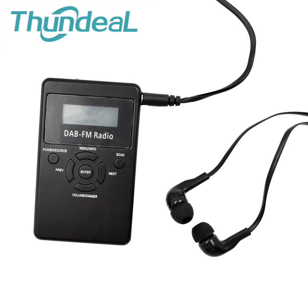 ThundeaL Portable DAB FM RDS Radio Pocket Digital DAB Radio Receiver 1.2 Display Screen with Rechargeable Battery and Earphone gtmedia dr 103b dab bluetooth receiver portable digital dab fm stereo radio receptor with 2 4 inch tft color display alarm clock