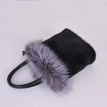 2018 Women Luxury Mink Fur Handbag Silver Fox Fur Bags Real Fur Bags Lady Super Fashion Mink Bags etersto 2017 new arrival women real mink fur handbag luxry real fur bag flap bags ladies crossbody bags female bags for lady