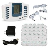 Avec 20x Plaquettes Full Body Relax Massage de Thérapie de Muscle Stimulateur Électrique Pulse dizaines Acupuncture Soins de Santé Minceur Masseur