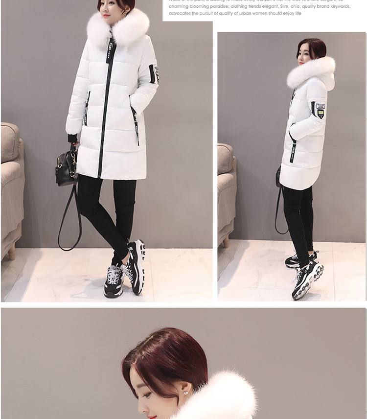 Parka Women Winter Coats Long Cotton Casual Fur Hooded Jackets Women Thick Warm Winter Parkas Female Overcoat Coat 19 MLD1268 5