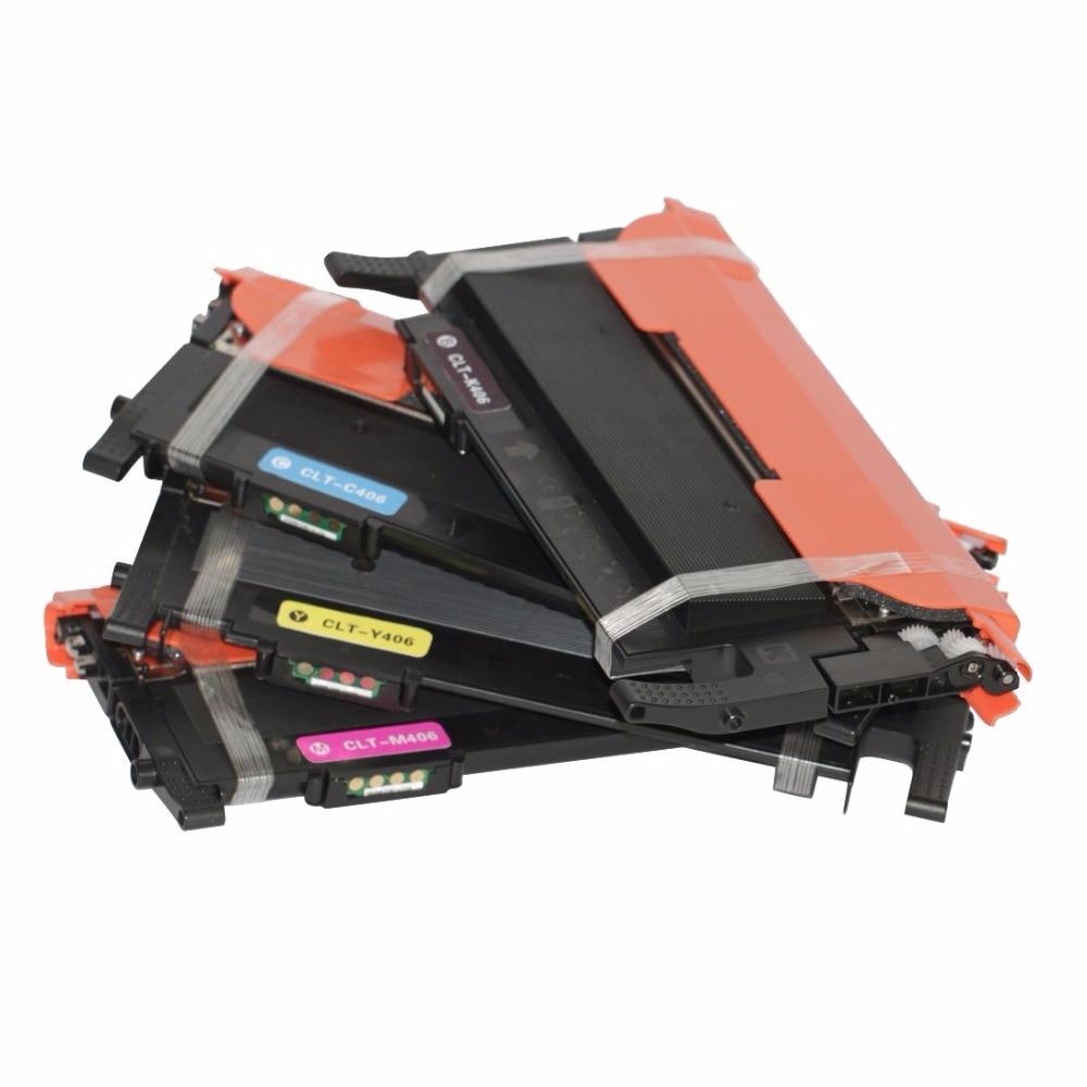 Compatible color toner cartridge Samsung CLT-406S C406S M406S Y406S 406S 406 for CLP-365W CLX-3305FW Xpress C410W