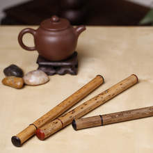 Authentic bamboo inlaid ebony/Merlot red Aloes and sandalwood incense fragrance of tube barrel lying