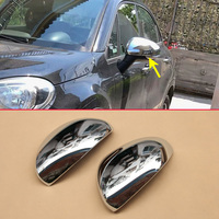 2Pcs Glossy Chrome Side Mirror Overlay For Fiat 500X 2015 2016 2017 2018 2pcs Rear View Protector Cover Accessories Parts