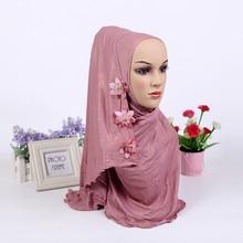 HIJAB de flor brillante musulmán de una pieza de moda, sombrero instantáneo redondo (nuevos colores existencias ahora. Aviso de patrón de flores al azar)