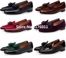 4f709f8c41c Mikishyda Men Genuine leather Shoes Bowknot Slip-on Oxfords Belgian loafers  Wedding Flats Handmade Men