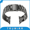 22mm 24mm Stainless Steel Watchband Replacement Band Strap Bracelet for 38mm 42mm iWatch Apple Watch Sport Edition Black Silver