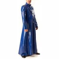 0.6 мм Толщина латекса длинная куртка латекс Для Мужчин's Ветровка