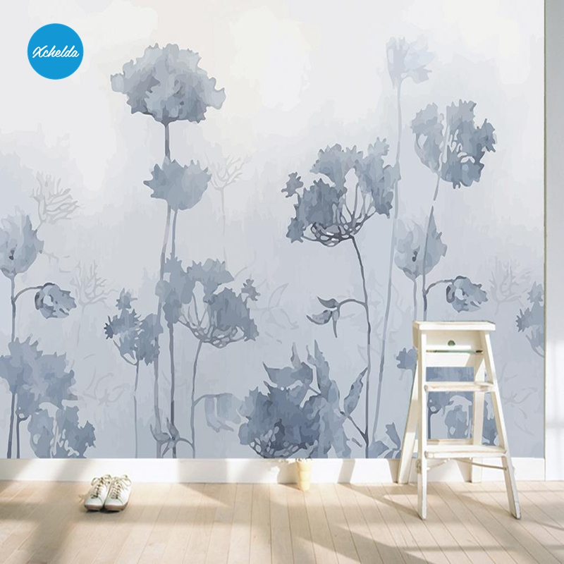XCHELDA Custom 3D Wallpaper Design Hand Painted Plant Photo Kitchen Bedroom Living Room Wall Murals Papel De Parede Para Quarto kalameng custom 3d wallpaper design street flower photo kitchen bedroom living room wall murals papel de parede para quarto