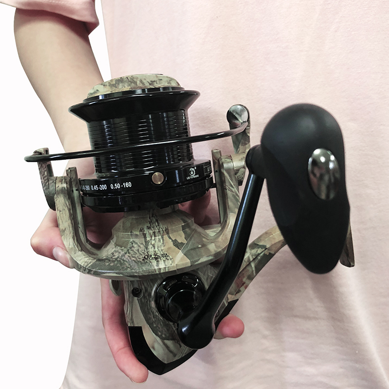 5000-10000 Size 13+1 Ball Bearings Feeder Carp Metal Fishing Reel Spinning Reel Carp Big Trolling Fishing Reels For Shimano