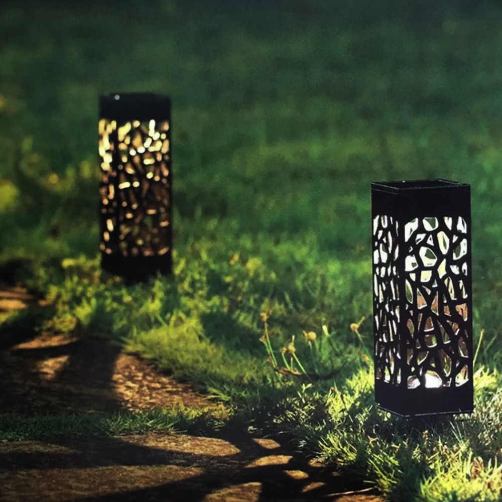 Солнечная энергия ed грунтовый светильник светодиодный солнечный свет под земной лампой Открытый Путь садовый настил Газон лампа
