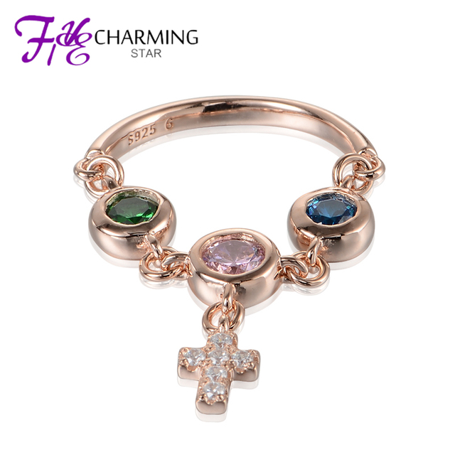 Cz Rings Thailand Authentic 925 Sterling Silver Cross Pendant