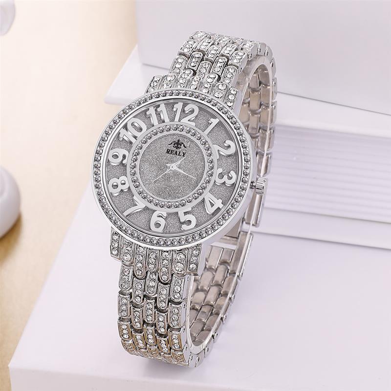 Women Watches Luxury Diamond Clock Fashion Stainless Steel Quartz Wristwatch Ladies Elegant Silver Bling Watch Reloj Mujer 2019