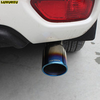 Stainless Steel Tail Exhaust Muffler Tip Pipe For Nissan Patrol Armada Accessories 2013 2014 2015 2016