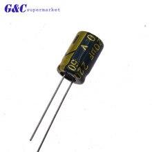 10/50PCS 220uF 50V Electrolytic Capacitor 105 8x12mm