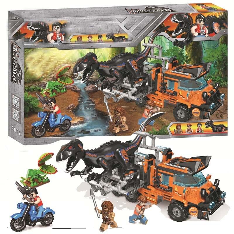 Legoing Jurassic World Dinosaurs Tyrannosaurus Rex Velociraptor Triceratops Set Blocks Toys For Children Legoings Park