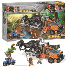 Legoing Jurassic World Dinosaurs Tyrannosaurus Rex Velociraptor Triceratops Set Blocks Toys For Children Legoings Park