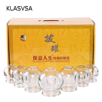 KLASVSA Glass Vacuum Fire Cupping Jars Therapy Set Apparatus Guasha Massager Cupping For Cellulite Scrapping Plate Pain Relief