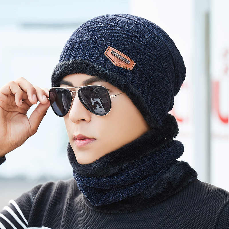 2018 New Chenille Knitted Hat Beanie Men Scarf Skullies Beanies Winter Hats  For Women Men Caps d2d054d1817b