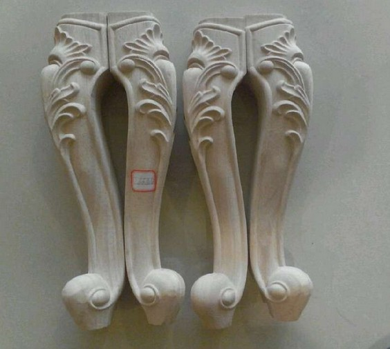 Wonderful Dongyang Wood Carving Fashion Furniture Legs Solid Wood Cabinet Legs Bed Sofa  Legs Table Legs Customize
