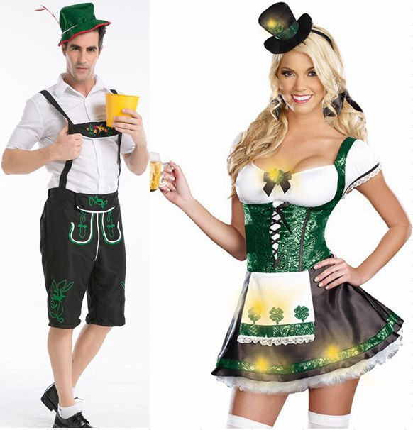 Plus Size S M L XL XXL Mens Lederhosen Beerfest Couples Costume German Outfit Halloween Costume TLQZ356-in Sexy Costumes from Novelty u0026 Special Use on ...  sc 1 st  AliExpress.com & Plus Size S M L XL XXL Mens Lederhosen Beerfest Couples Costume ...