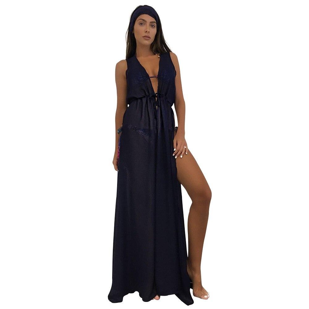 Saida De Praia 2018 Beach Cover Up Pareo Playa Coverup Dress Vestido Livre Swimsuit Wear Swimwear Lace Women Beachwear Tunics