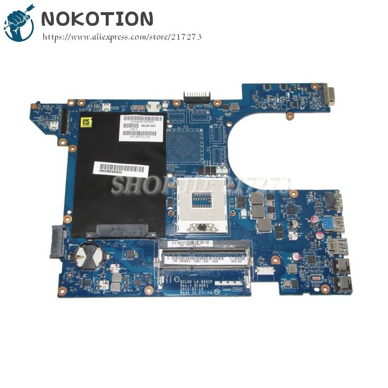 NOKOTION CN-0N35X3 0N35X3 N35X3 MAIN BOARD For Dell 15R 5520 Laptop Motherboard QCL00 LA-8241P HM77 DDR3 UMA nokotion laptop motherboard for dell vostro 3500 cn 0w79x4 0w79x4 w79x4 main board hm57 ddr3 geforce gt310m discrete graphics