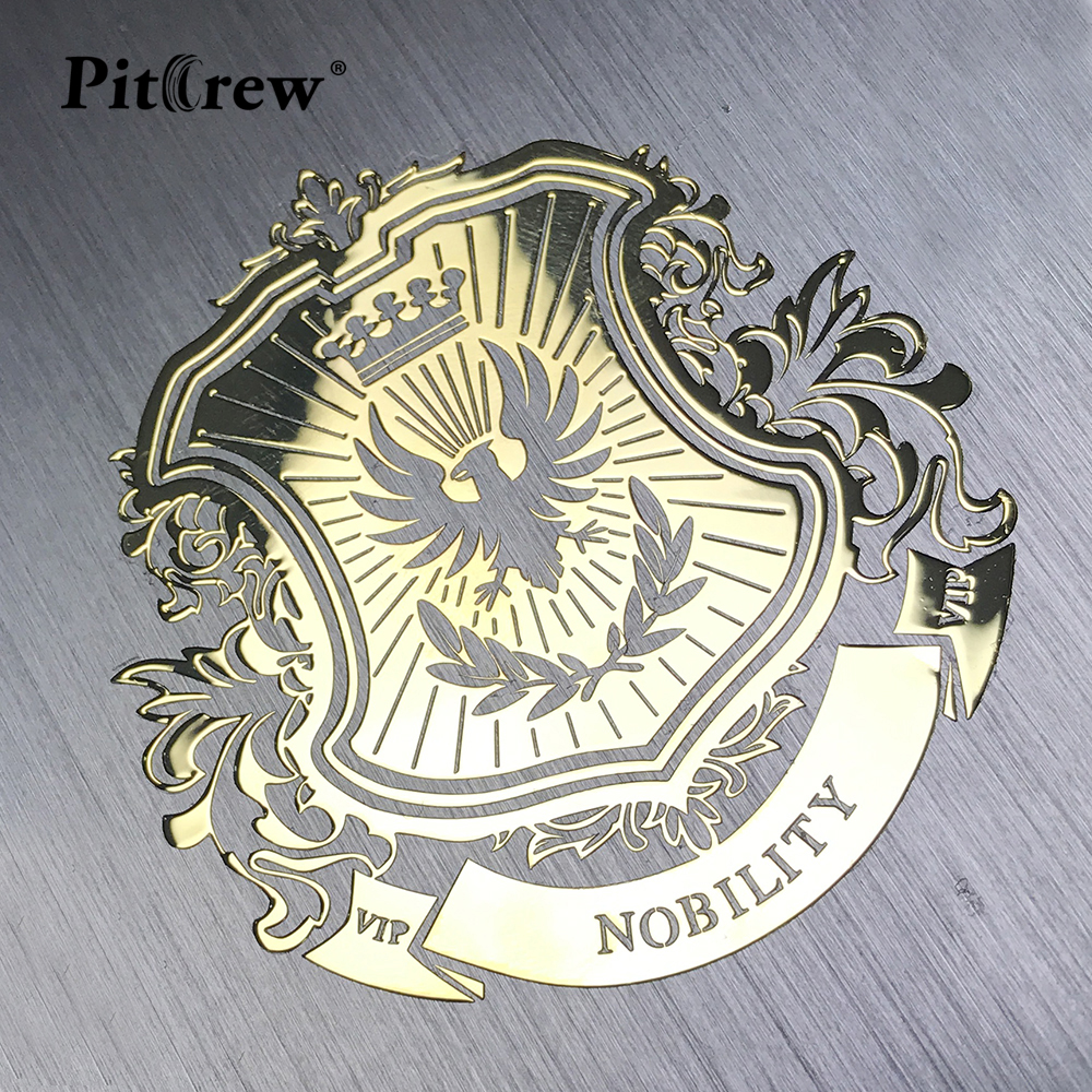 PITREW Nickel Metal Car Stickers VIP Lion Emblem Decal For Car Styling Laptop Sticker Stationery Sticker Automobile Accessories