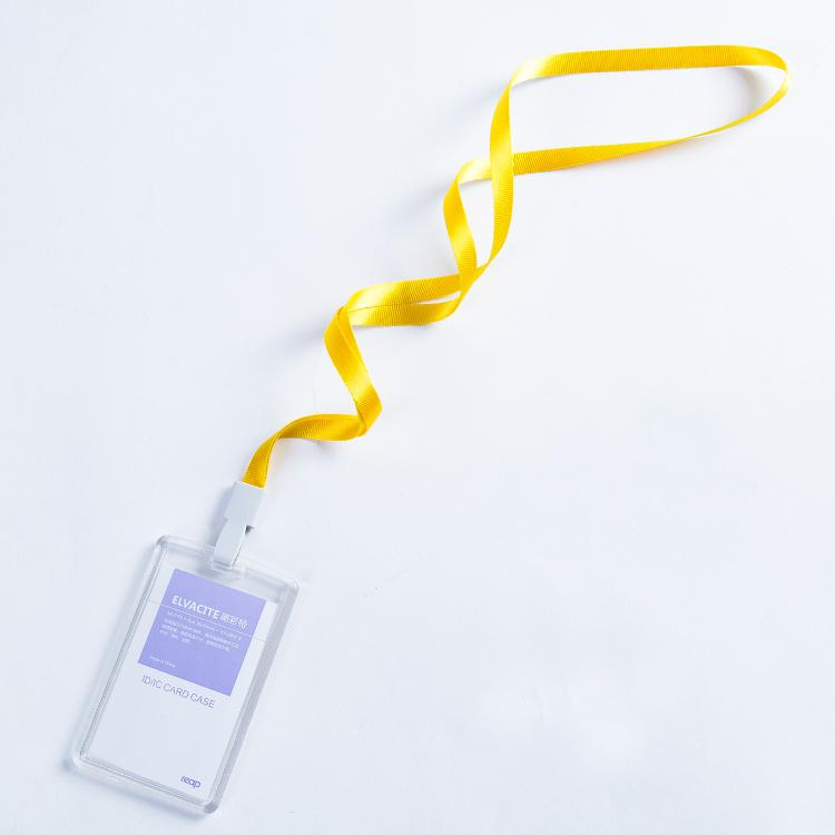 standard Size Badge Holder & Accessories Transparent Acrylic Crystal Staff Identification Card Name Badge Id Card Access Exhibition Badge With Lanyards