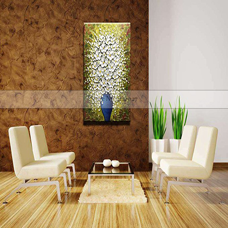 Handmade Modern Abstract Large Poster Art Acrylic Canvas Painting Handpainted Wall Artwork Oil Hang Picture for Home Decor in Painting Calligraphy from Home Garden