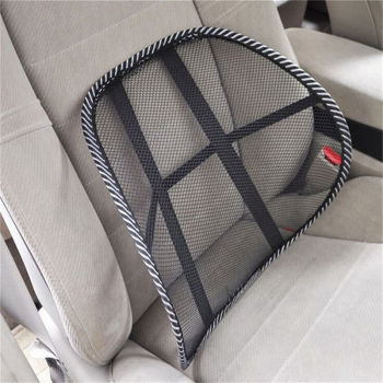 1pc Car Office Truck Chair Seat Back Lumbar Support Mesh Ventilate Cushion Cool Back Lumber Support Vent Massage Cushion Mesh image