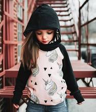 2018 Newborn Children Kids Baby Girls Clothes Long Sleeve Unicorn Animals Casual Cotton Coat Hooded Outerwear Top Clothes Hot(China)