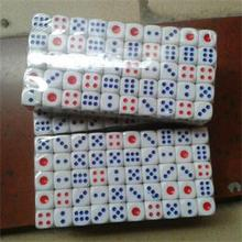 Dice: 100 pcs/lot 10mm Standard with Blue and Red Dots