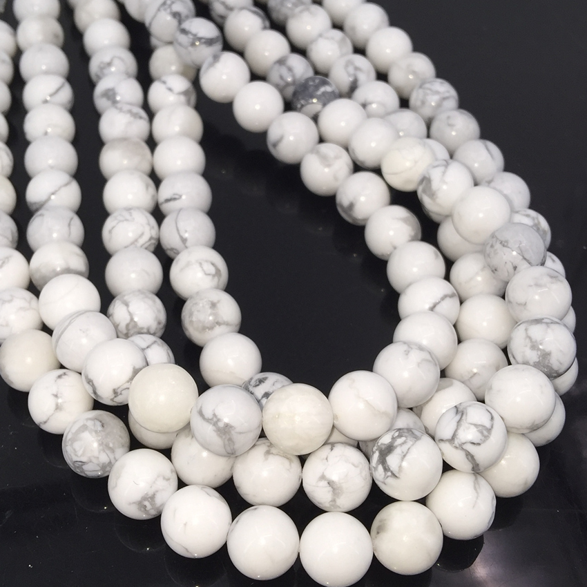 "10 Mm Naturel Blanc Sculpture Coral Gemstone Collier perles long 50/"" AAA"