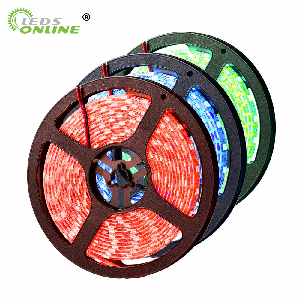 LED NON-Waterproof Jalur SMD 5050 LED 5M DC12V Fleksibel Light string hemat rumah tangga baru natal