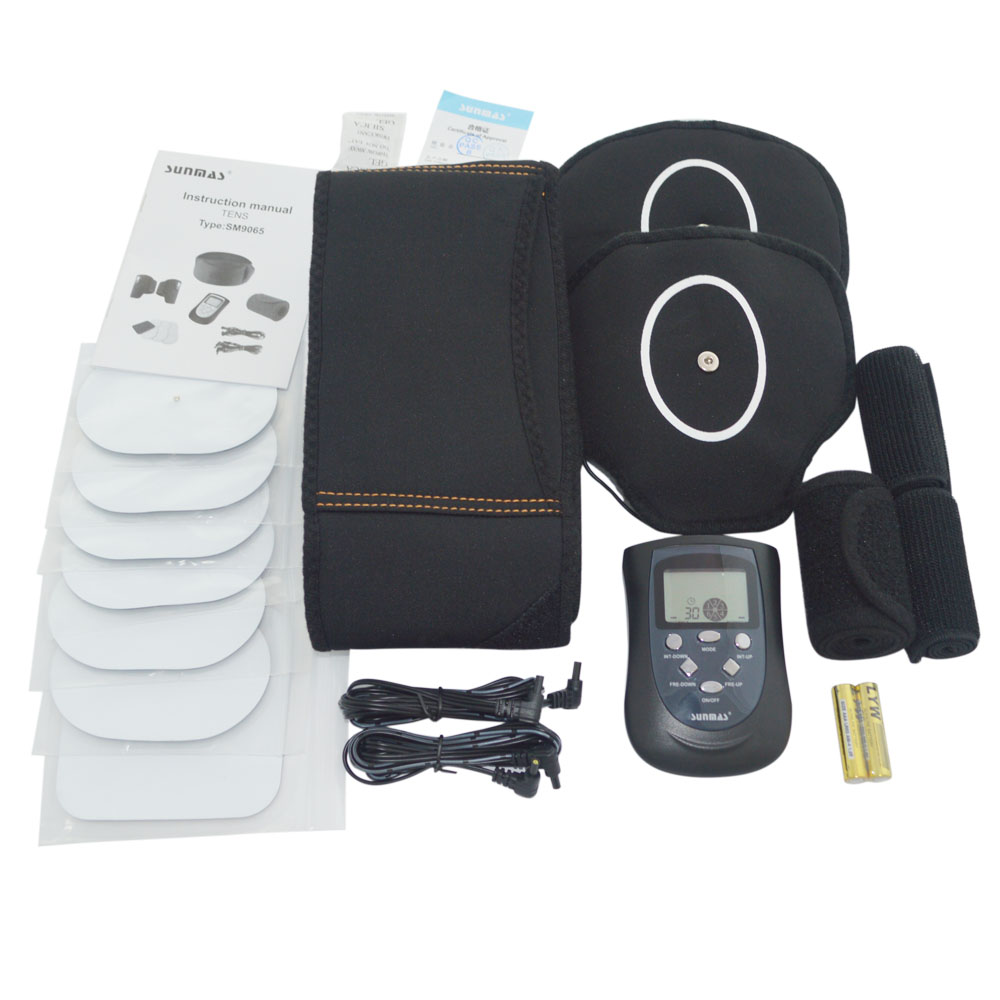 SUNMAS SM9065F Full Body Electronic Muscle Stimulation Toning Massager with Massage Belt slimming belt and Arm Band -black