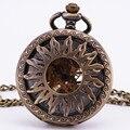 Greek Apollo Sun Vintage Antique Baroque Hollow Bronze Mechanical Pocket Watch Pendant Sweater Chain Clock Accessories TD104