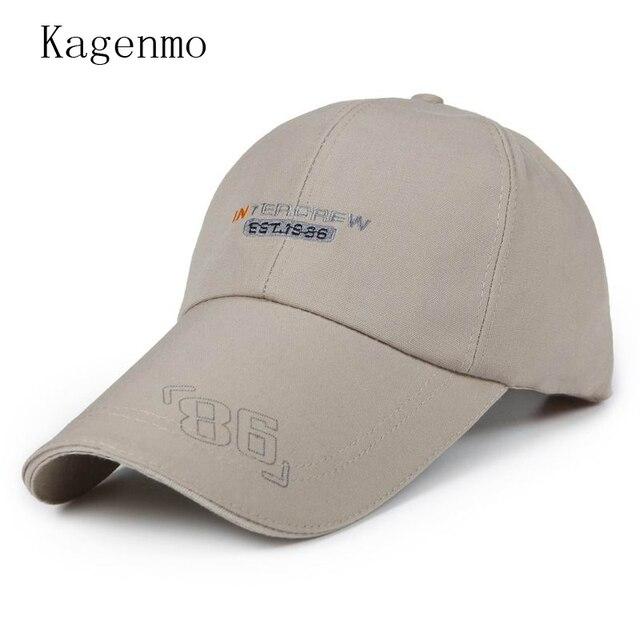6a0d9aa3781 Kagenmo Big Brim Cotton Adjustable Baseball Cap Man Summer Visor Shade  Autumn Hat Autumn Male Caps Ease Gofl Sunhat 10pcs