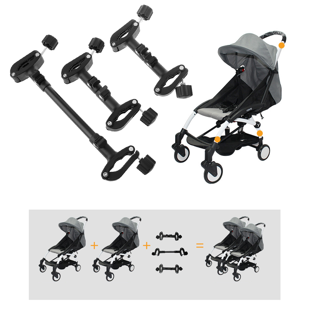 Image 3 - 3Pcs Outdoor Toddler Accessory Baby Cart Assemble Connector Joint Linker Adjustable Length Twin Baby Stroller Connect AdapterStrollers Accessories   -