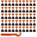 100 шт. Плоские керамические напольные настенные строительные инструменты многоразовая система выравнивания плитки Kittile система выравниван...