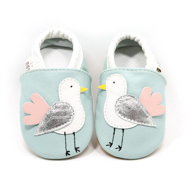 Outono Novo Bebê Pássaro Sapatos de Seda Confortável Recém-nascidos Primeiros Walkers Antiderrapante Vaca Sola De Couro Crianças de couro Genuíno Mocassins