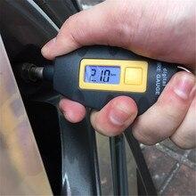 Датчик давления в шинах 3 100PSI, портативный высокоточный измеритель давления в шинах с крючком, с жк дисплеем, для велосипеда, автомобиля, мотоцикла